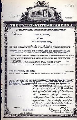 Patent #2104760 Granted to Archibald Renfrew Assignor: United States Patent