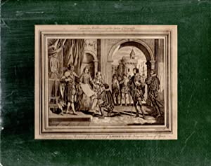 "ENGRAVING: ""Columbus Presenting an Account of His Discovery of AMERICA to The King and Queen ..."