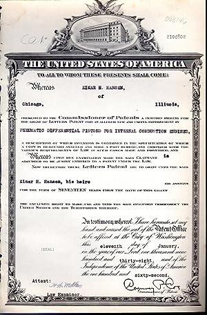 Patent #2104802 Granted to Einar H. Hansen: United States Patent