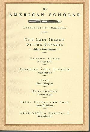 The American Scholar: Volume 69, No. 4;: Fadiman, Anne (Editor)