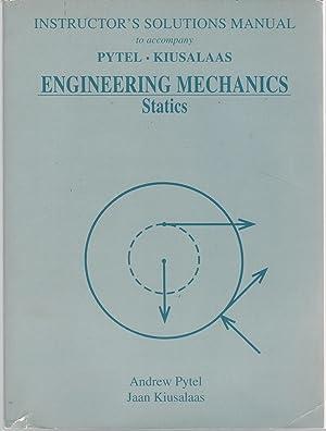 Instructor's Solutions Manual to accompany Engineering Mechanics: Pytel, Andrew &