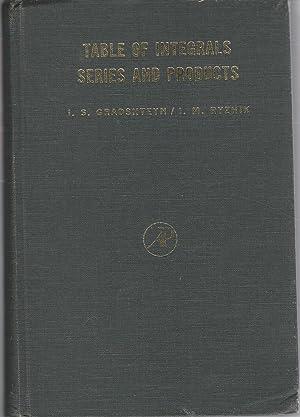 Table of Integrals Series and Products: Gradshteyn, I. S.& Ryzhik, I. M.