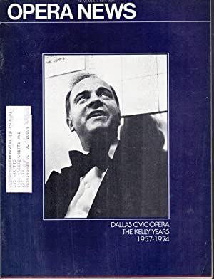 Opera News: Volume 39, No. 5; November,: Jacobson, Robert (editor)