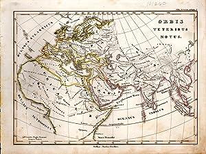 "MAP: ""Orbis Veteribus Notus"".from Orbis Terrarum Antiquus: D'anville, Mannert, Ukert,"