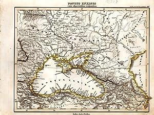 """MAP: """"Pontus Euxinis Cum Adjacentibus Regionibus"""".from Orbis: D'anville, Mannert, Ukert,"""