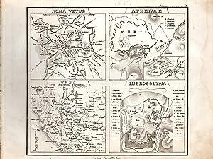 "MAP: ""Roma Vetus, Athenae, Urbs, Hierosolyma"".from Orbis: D'anville, Mannert, Ukert,"
