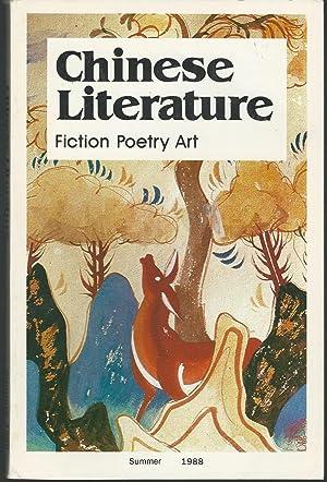 Chinese Literature: Fiction, Poetry, Art: Summer, 1988: Wang Meng; Yin Shuxun & Wu Yang (editors)