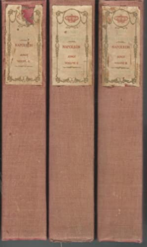 Memoirs of Emperor Napoleon (3 volumes) (From Memoirs and Secret Chronicles of the Courts of Europe...