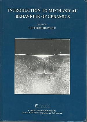 Introduction to Mechanical Behavious of Ceramics: De Portu, Goffredo (editor)