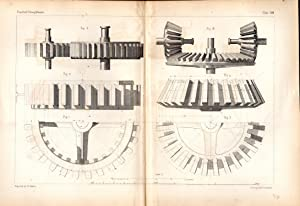 "ENGRAVING: ""Applicaton of Shadows to Toothed Gear: Armengaud & Amouroux"