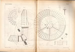 "ENGRAVING: ""Design for a Pair of Bevil-Wheels: Armengaud & Amouroux"