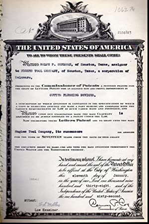 Patent #2104823 Granted to Ralph P. Sherman.assignors: United States Patent