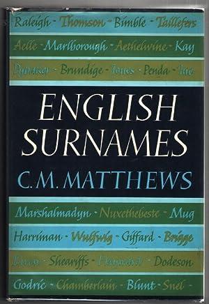 English Surnames: Matthews, C. M.
