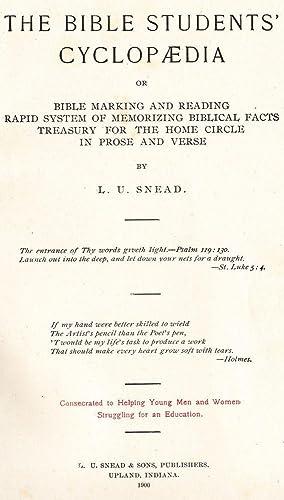 The Bible Students' Cyclopaedia: Snead, L. U.