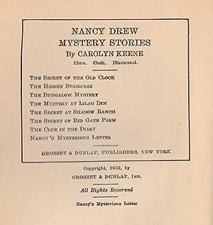 Nancy's Mysterious Letter: Keene, Carolyn