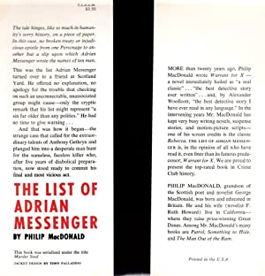 The List of Adrian Messenger: MacDonald, Philip