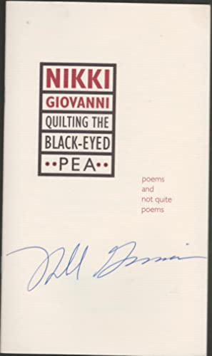 Quilting the Black-Eyed Pea: Poems and Not Quite Poems (includes signed promotional pamphlet): ...