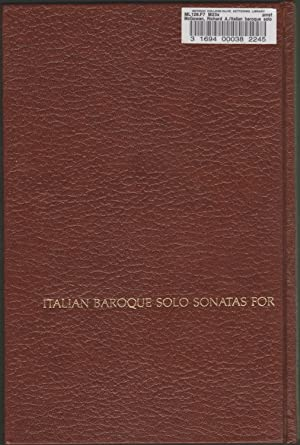 Italian Baroque Solo Sonatas for the Recorder and the Flute: McGowan, Richard A.