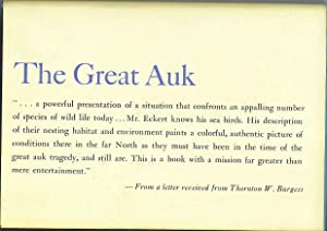 The Great Auk: Eckert, Allan W.
