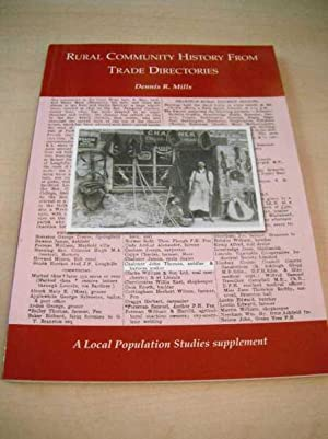 Rural Community History from Trade Directories: Mills, Dennis R.