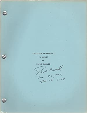 The Fifth Profession SIGNED Copy of Typescript: David Morrell