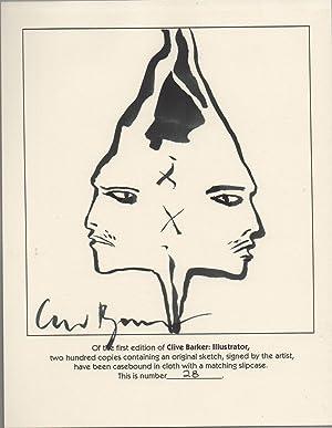 Clive Barker Illustrator SIGNED DELUXE w/Original Art: Clive Barker