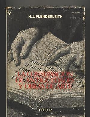 LA CONSERVACION DE ANTIGUEDADES Y OBRAS DE ARTE: H. J. Plenderleith