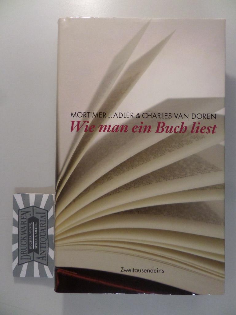 Wie man ein Buch liest.: Adler, Mortimer Jerome