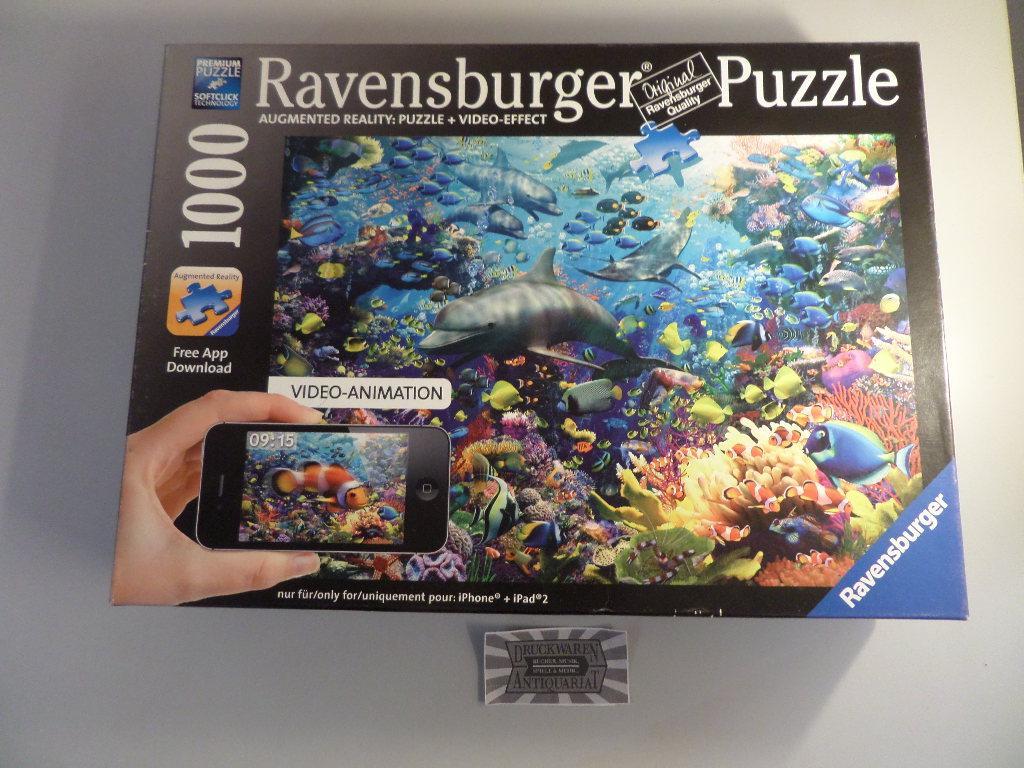 Farbenfrohes Unterwasserreich [Augmented Reality: 1000 Teile Puzzle + Videoeffect]. Ravensburger 19 304 2. ACHTUNG! FÜR KINDER UNTER 3 JAHREN NICHT G