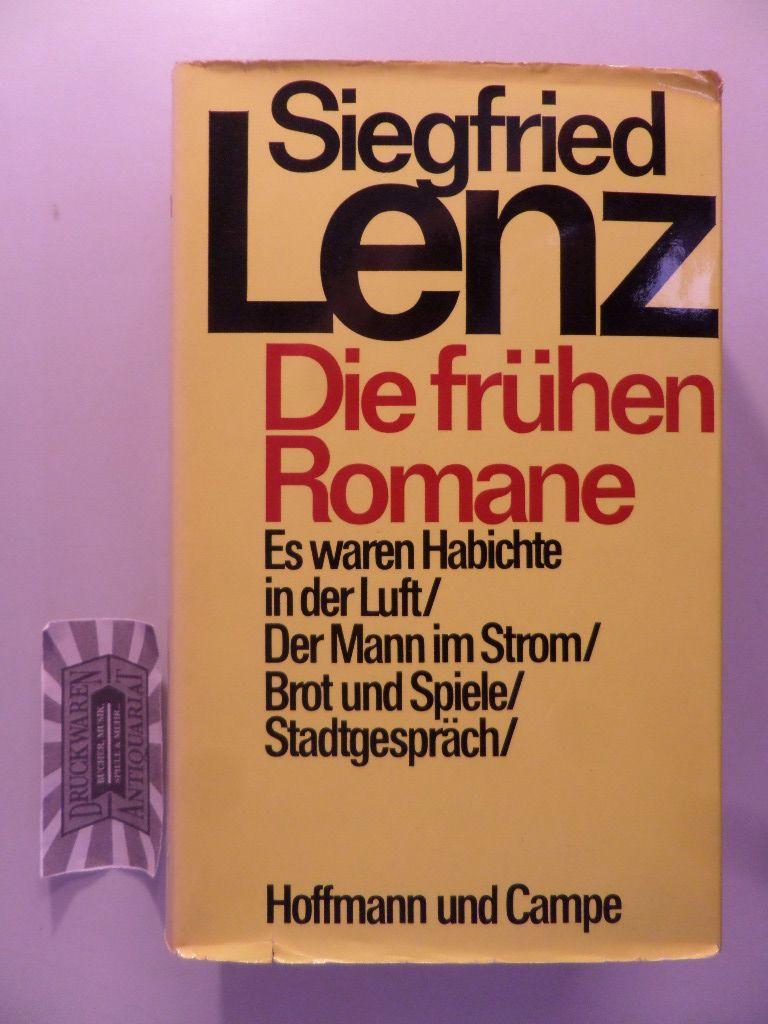 Die frühen Romane.: Lenz, Siegfried: