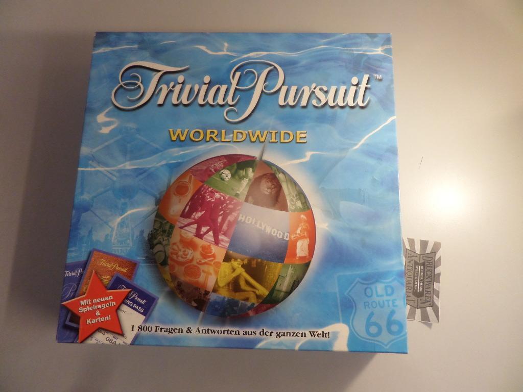 Trivial Pursuit - Worldwide [Quizspiel, Ratespiel]. Parker Spiele Nr. 47552. ACHTUNG! FÜR KINDER UNTER 3 JAHREN NICHT GEEIGNET!