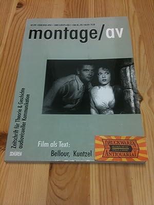 Montage/av 8/1/1999 - Zeitschrift für Theorie &: Bellour, Raymond, Thierry