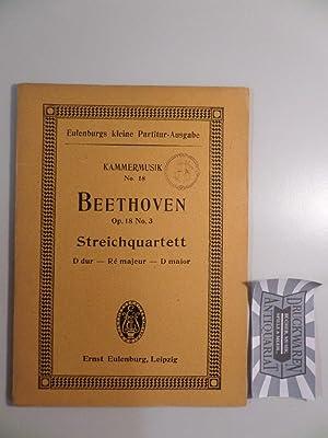 Quartett Nr. 3, D-Dur für 2 Violinen,: Beethoven, L. van: