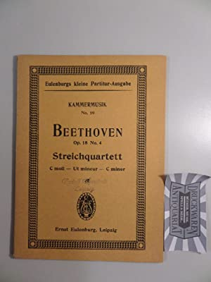 Quartett Nr. 4, C-moll für 2 Violinen,: Beethoven, L. van:
