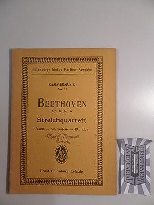 Quartett Nr. 6, B-dur für 2 Violinen,: Beethoven, L. van: