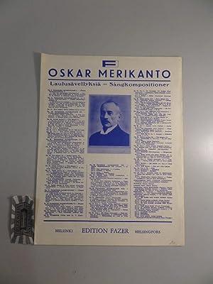 Laulusävellyksiä - sangkompositioner. Op. 24, No. 2.: Merikanto, Oskar:
