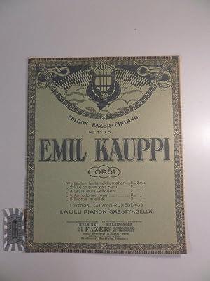 Laulu Pianon Säestyksellä. Op. 51. Nr. 4: Kauppi, Emil: