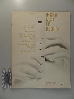 Joseph Bodin de Boismortier : Zwei Sonaten: de Boismortier, Joseph