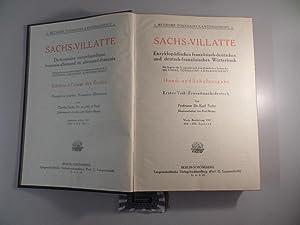 Sachs-Villatte Enzyklopädisches französisch-deutsches und deutsch-französisches Wörterbuch -: Sachs, Karl: