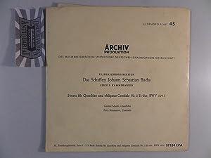 Sonate Für Querflöte Und Obligates Cembalo Nr.: Bach, Johann Sebastian,