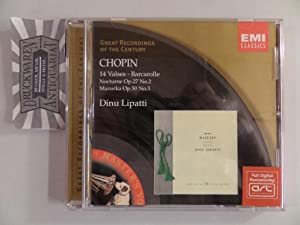 Chopin : 14 Valses / Barcarolle, Nocturne: Lipatti, Dinu [Piano]