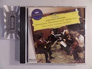 Brahms: Klavierquartett Op.25 / Balladen Op.10 [Audio-CD].: Gilels, Emil [Piano],