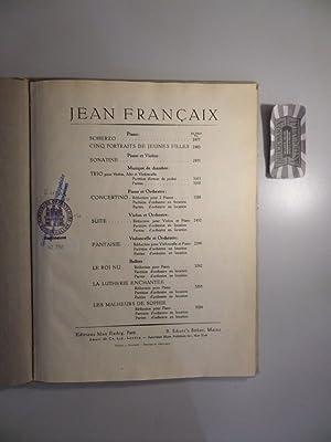 Jean Francaix : Concertino - I Prélude.: Francaix, Jean:
