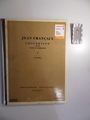 Jean Francaix : Concertino pour Piano et: Francaix, Jean: