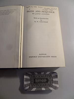 Pride and Prejudice. The world's classics 335.: Austen, Jane und