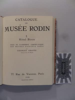 Catalogue du Musee Rodin - I. : Grappe, Georges: