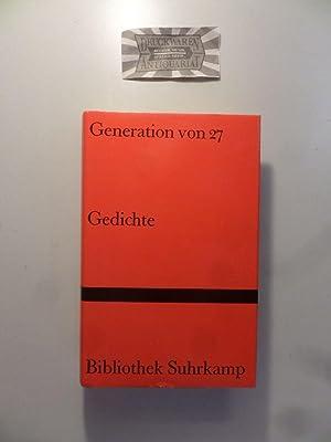 9783518017968 Generation Von 27 Gedichte Abebooks