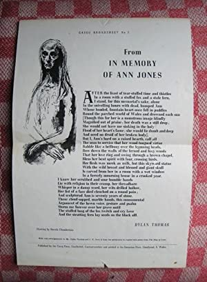 From In Memory of Ann Jones. Drawing: THOMAS (Dylan)