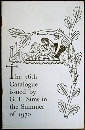 The 76th Catalogue issued by G.F. Sims: G.F. SIMS (Rare
