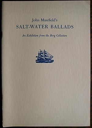 John Masefield's Salt-Water Ballads: [catalogue of] an: GORDAN (John D.)